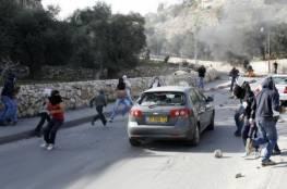 اصابة مستوطن بإلقاء حجارة شمال رام الله