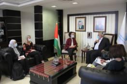 غنيم يبحث مع ممثلة منظمة اليونيسف في فلسطين التعاون المشترك