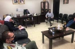 خلية الأزمة تناقش تفاصيل الخارطة الوبائية للكورونا في محافظة نابلس