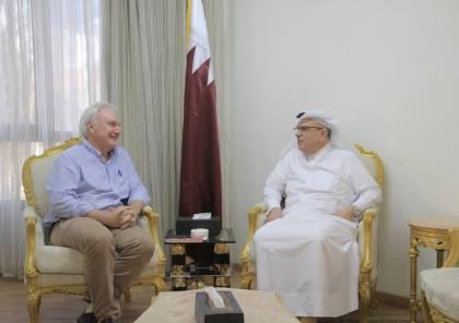 غزة: تفاصيل لقاء السفير العمادي مع شمالي مدير عمليات الاونروا
