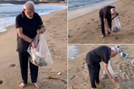 فيديو .. رئيس الوزراء الهندي يجمع القمامة من شاطئ يستضيف فيه الرئيس الصيني