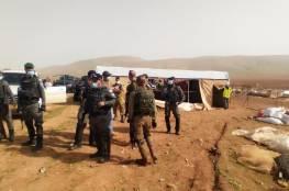 الاحتلال يخطر بترحيل أهالي خربة حمصة الفوقا في الأغوار