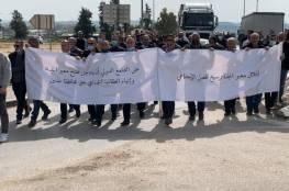 اعتصام لتجار ومؤسسات جنين يطالب بفتح حاجز الجلمة أمام فلسطينيي الداخل