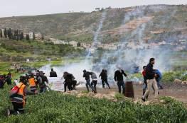 إصابات بينها مصوران صحفيان بقمع الاحتلال مسيرة كفر قدوم