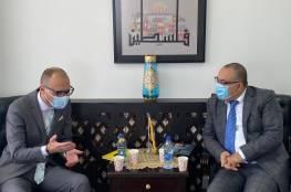 أبو سيف يبحث مع ممثل جمهورية لتوانيا التعاون الثقافي