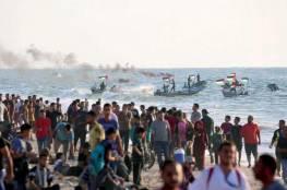 غزة: استشهاد شاب متأثراً بإصابته خلال مظاهرة المسير البحري