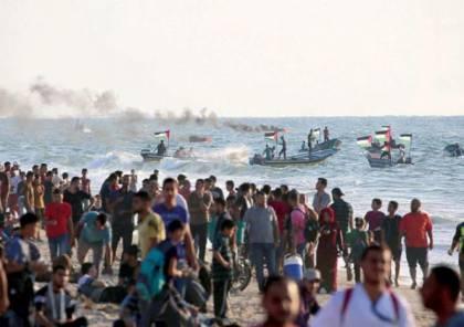اصابات بالرصاص والاختناق خلال قمع الاحتلال للحراك البحري الـ23 شمال قطاع غزة