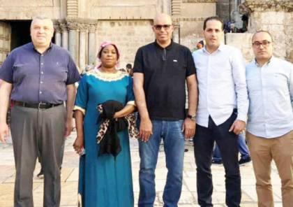 الامين العام للفيفا فاطمة سامورا تحل ضيفة على مدينة القدس