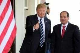 ترامب يؤكد للسيسى تضامنه الكامل مع مصر ودعمها ضد الارهاب