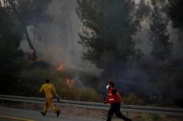 استمرار حرائق الغابات في إسرائيل ومصر والسلطة ترسلان مساعدات