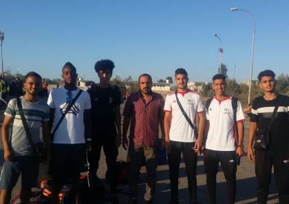 وصول 6 لاعبين غزيين جمهورية مصر العربية