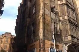 انهيار مبنى بسبب الأمطار والبحث عن 4 مفقودين في مصر (فيديو)