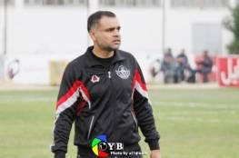 المدرب محمود يودع خدمات خانيونس