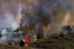 ازدياد مساحة الحرائق في غلاف غزة