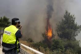 """الإطفاء الإسرائيلي: لا يمر يوم دون حرائق """"متعمدة"""" بمستوطنات الضفة"""