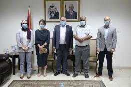 """رمضان يبحث مع مديرة عمليات """"الأونروا"""" التعاون لمواجهة كورونا"""