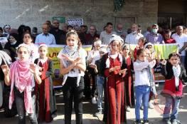 أطفال بغزة يتضامنون مع الأسرى المضربين عن الطعام