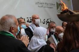 سفارتنا بالقاهرة توقد شعلة انطلاقة الثورة الفلسطينية الـ56