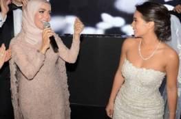 شاهدوا الصور الأولى من حفلة زفاف ابنة منى عبد الغني