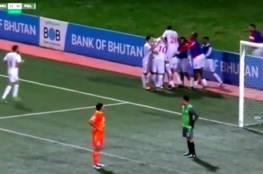 """فيديو.. """"الفدائي"""" يفوز على بوتان بهدفين"""