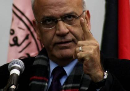 """عريقات: مندوب """"إسرائيل"""" لدى الأمم المتحدة فاسد روحيًا"""