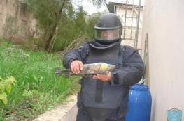 الشرطة تتلف جسمًا مشبوهًا في جنين