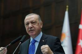 أردوغان يربط تطور العلاقات الاسرائيلية التركية بحل الصراع مع الفلسطينيين