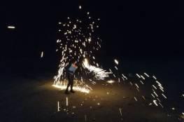 بالصور.. 5 اصابات خلال قمع الاحتلال لفعاليات الارباك الليلي شرق غزة