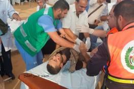 بالصور.. 40 اصابة بينها خطيرة في مسيرات العودة شرق قطاع غزة