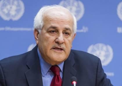 منصور: فلسطين أكثر من يعاني من القصور في النظام العالمي