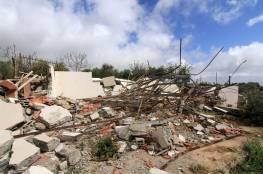 """بيت لحم: الاحتلال يخطر بوقف البناء في منزل قيد الانشاء ويهدم غرفة زراعية و""""عريش"""""""