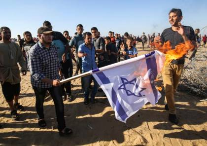 بحر: حرق العلم الإسرائيلي رسالة للدول العربية المطبعة