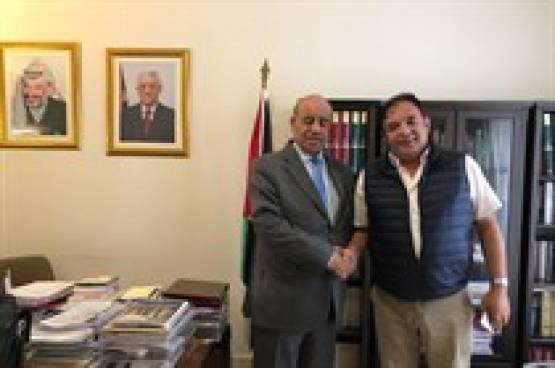 الهرفي يعقد عدة لقاءات ويتباحث في تطورات القضية الفلسطينية