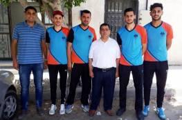 5 رياضيين غزيين يصلون البحرين