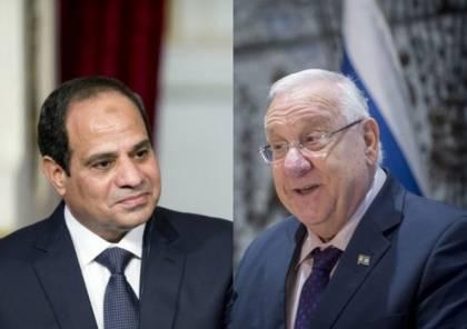 الرئيس الإسرائيلي يبعث برسالة للسيسي وهذا اهم ما جاء فيها ..