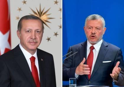أردوغان يبحث مع العاهل الأردني العلاقات الثنائية