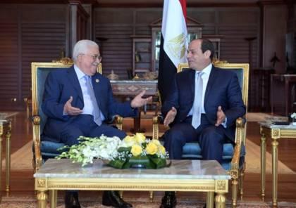 الرئيس عباس يجتمع مع نظيره المصري في شرم الشيخ