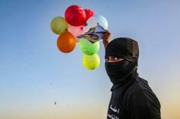 بالصور.. استئناف إطلاق البالونات الحارقة اتجاه مستوطنات الاحتلال