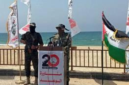 """شاهد: """"المجاهدين"""" تنفذ مناورات عسكرية وتطلق صواريخ صوب البحر"""