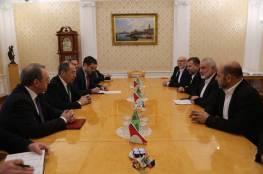 حماس تكشف تفاصيل لقاء وفدها برئاسة هنية مع وزير الخارجية الروسية لافروف في موسكو