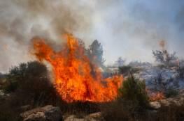 حريق كبير قرب قاعدة عسكرية للجيش في يافني