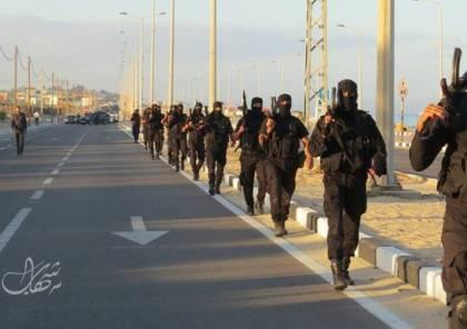 """شاهد الصور: مسير عسكري لقوات المهام الخاصة """"2"""" في غزة"""