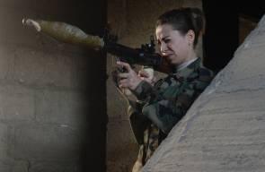 فتيات سوريات في الجيش من بلدة الدخانية بريف دمشق