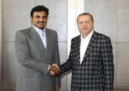 "صور : أمير قطر يهدي أردوغان ""قصرا طائرا"""