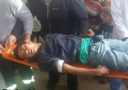 صور : 27 اصابة بينهم 2 خطيرة خلال مواجهات مع الاحتلال بغزة