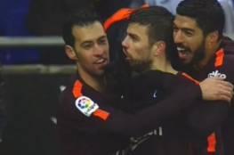 فيديو.. بيكيه ينقذ برشلونة من السقوط الأول في الليغا أمام إسبانيول