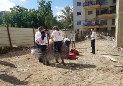 مصرع عامل من المكر سقط من علو قرب حيفا