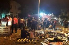 انفجار ضخم يهز مدينة نابلس