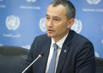 ميلادينوف يدعو إسرائيل لعدم عرقلة الانتخابات