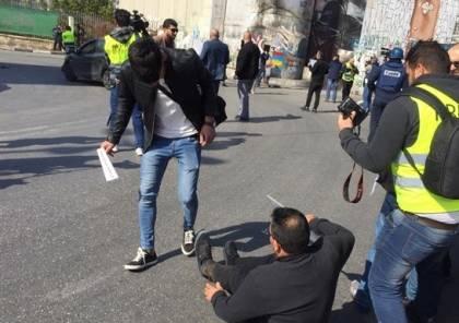 بيت لحم:اصابة 4 صحفيين في قمع الاحتلال لوقفة مع الصحفي عمارنة